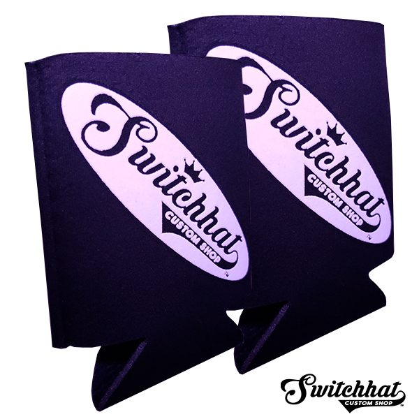 switchhat custom logo puff screen print koozies
