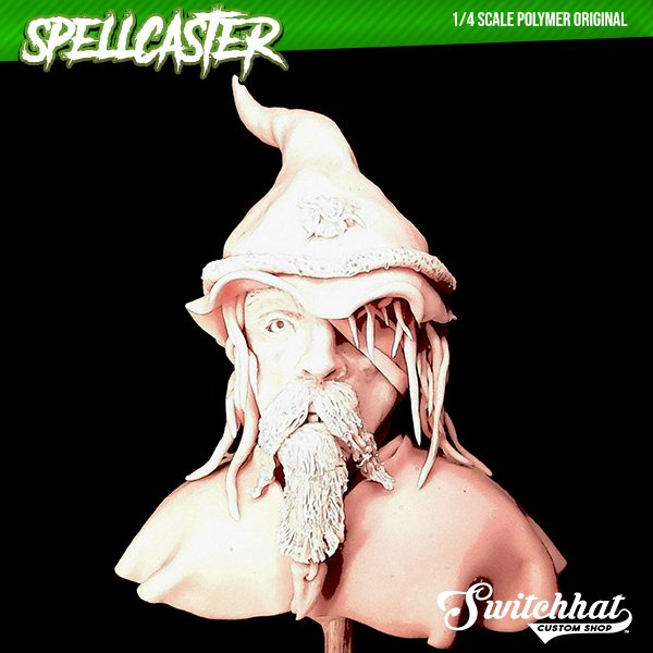 the spellcaster original polymer headsculpt cartooned