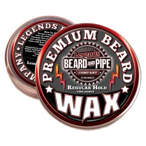 legends beard support control wax