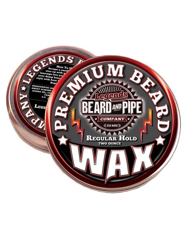 legends beard support control wax